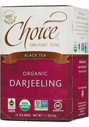 Choice Organic Darjeeling Black Tea, 16 Count Box
