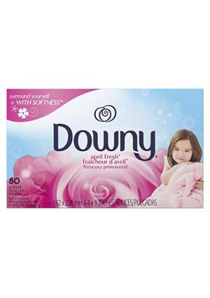 Downy Fabric Softener Sheets, April Fresh, 80 sheets