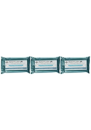 ReadyFlush Jr Personal Cleansing Flushable 7x8 Wipes - 3 Packs - Fragrance Free