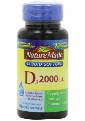 Nature Made Vitamin D 2000 I.U. with D3, Liquid Softgels, 90-Count