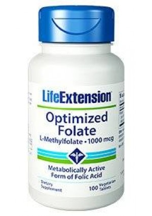 Life Extension - Optimized Folate 1000mcg 100 Tablets