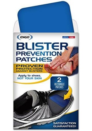ENGO Rectangle Blister Prevention Patches (2 Patches) | Trim to Fit Skates, Cleats, Helmets, Equipment, Shoes