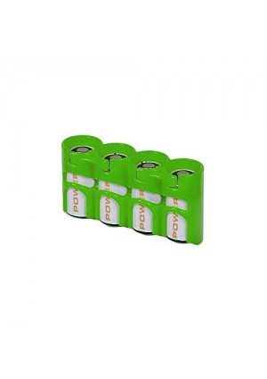 Storacell PowerPax CR123 Battery Caddy, Glow-in-the Dark Moonshine, 4-Pack