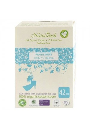 """Natratouch 7"""" Length Organic Cotton Panty Liners 42 piece (super)"""