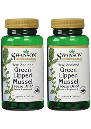Swanson New Zealand Green Lipped Mussel 500 mg 60 Caps 2 Pack