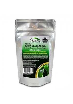 Zokiva Nutritionals Graviola Tea (30 Bags) Soursop - Annona muricata - Guanabana - Premium Quality 100% Pure Leaf