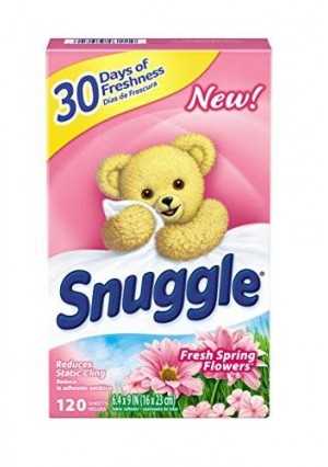 Snuggle Fabric Softener Dryer Sheets, Fresh Spring Flowers, 120 Count
