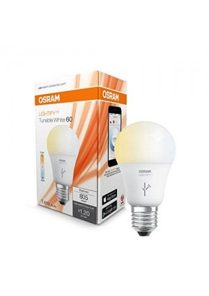 OSRAM 73674 Lightify Smart Connected Lighting LED Tunable A19 Bulb, White