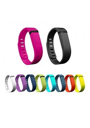 ECSEM IMMI New 10Pcs Colorful Large Replacement Wristband band For Fitbit FLEX Only