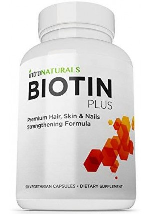 BEST Biotin Formula | Biotin Plus by Nested Naturals | Advanced Hair, Skin, and Nails Complex Containing 5,000mcg of Biotin + Vitamins C, E, B3, B6, and B12 - Non-GMO, Vegan - Lifetime Guarantee
