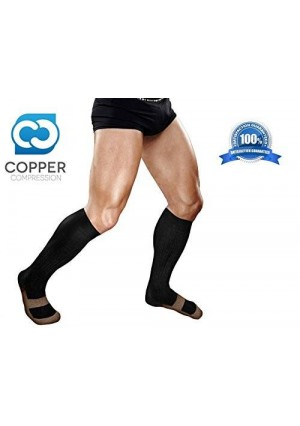 Copper Compression Knee High Recovery Support Socks