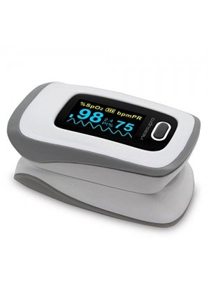 MeasuPro OX250 Instant Read Digital Pulse Oximeter with Alarm Setting, Color OLED Display and Carry Case, CE, FDA Approved