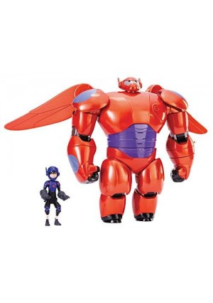 "Big Hero 6 11"" Deluxe Flying Baymax with 4.5"" Hiro Action Figures"