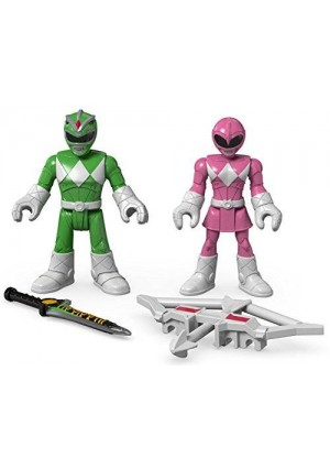 Fisher-Price Imaginext Power Rangers Green Ranger and Pink Ranger Figures