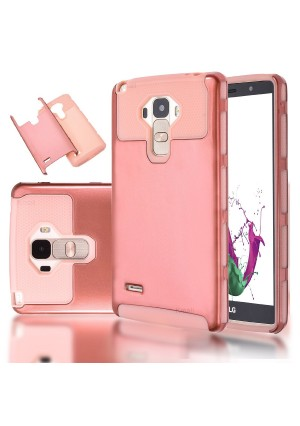 LG G Stylo/LG G4 Stylus (LS770) Case-Kmall(TM) LG G4 Stylus 2in1 Hybrid Heavy Duty Case,Impact Resistant Shock-Absorption Case,Dual Layer Armor Full-Body Protective Case for LG G Stylo(Rose Gold)