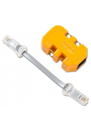 Fluke Networks 10220101 6-Wire In-Line Modular Adapter with K-Plug