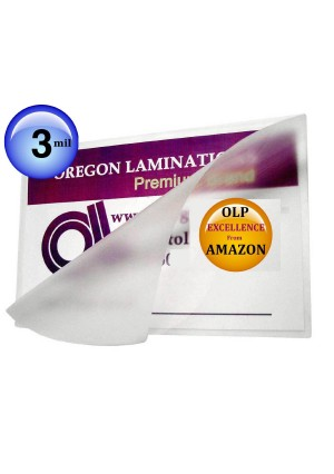 Oregon Lamination Premium 5x7 Photo Laminating Pouches 5-1/4 x 7-1/4 Hot Laminator Sleeves 3 Mil qty 100