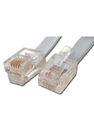 Networx RJ12 6 Conductor Cross Wired Modular Telephone Cable - 15 FT