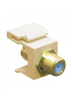 ICC Module F-Type Gold Plated 3GHZ Keystone Faceplates Ivory Bezel Connector