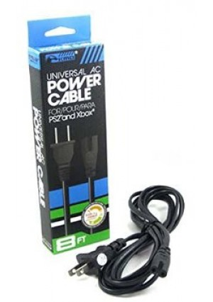 KMD - 8FT Universal AC Power CordCable for Xbox and PS2