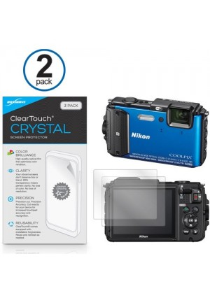 Nikon Coolpix AW130 Screen Protector, BoxWave [ClearTouch Crystal (2-Pack)] HD Film Skin - Shields From Scratches for Nikon Coolpix AW130