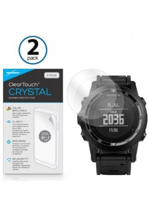 Garmin Tactix Screen Protector, BoxWave [ClearTouch Crystal (2-Pack)] HD Film Skin - Shields From Scratches for Garmin Tactix