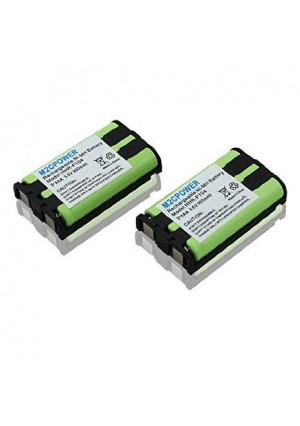 M2cpower replacement battery (2 Pack)for Panasonic Cordless Telephone Battery (HHR-P104A)