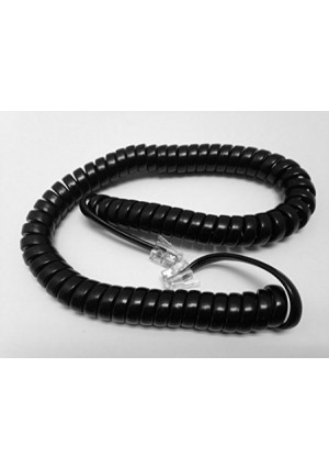 The VoIP Lounge Replacement 9 Ft Black Handset Curly Cord for Shoretel IP Phone