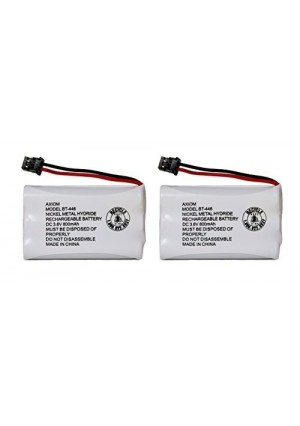 Axiom Rechargeable Battery For Uniden BT-446, BT-1005, ER-P512 (2-Pack)