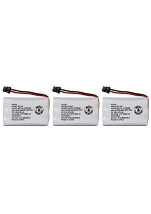 Axiom Rechargeable Battery For Uniden BT-446, BT-1005, ER-P512 (3-Pack)