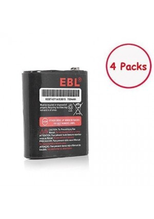 EBL Pack of 4 Motorola 53615 KEBT-071A KEBT-071-B KEBT-071-C KEBT-071-D Two-Way Radio Rechargeable Batteries 3.6V 700mAh for Talkabout