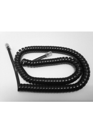 The VoIP Lounge Replacement 12 Ft Black Handset Curly Cord for ATandT / Lucent / Avaya Merlin Business Phone