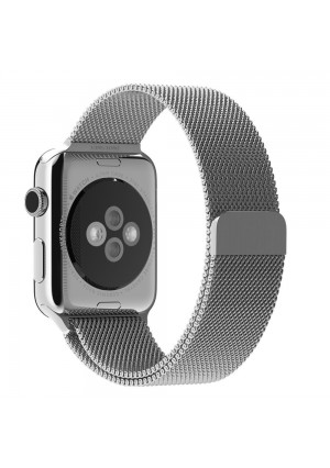 Apple Watch Band,UINSTONE 42mm Milanese Loop Stainless Steel Bracelet Smart Watch Strap for Apple Watch All Models With Unique Magnet Lock No Buckle Needed - SILVER