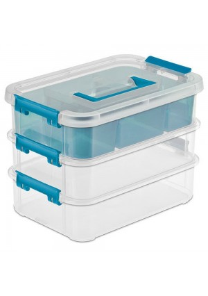 Sterilite 14138606 Layer Stack and Carry Box, 10-5/8-Inch