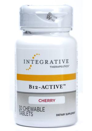 Integrative Therapeutics, Inc. B12-Active, Cherry Flavor, 30 Chewable Tablets