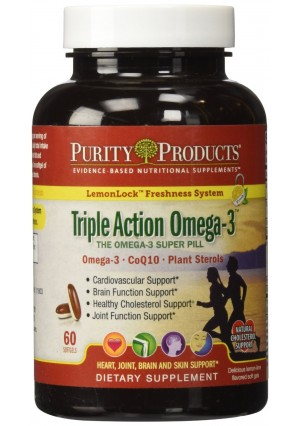 Purity Products - Triple Action Omega-3 Super Pill - 60 Softgels