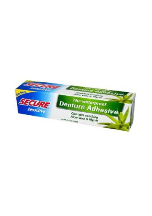 SECURE Denture Adhesive, Sensitive, 1.4 Ounce