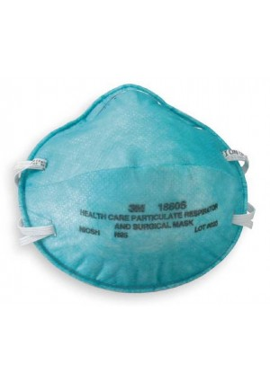 3M Health Care 1860S-N95 Particulate Respirator and Surgical Masks, Small Adult, 1/Box of 20