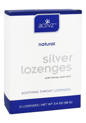 Activz 30 PPM Silver Throat Lozenges