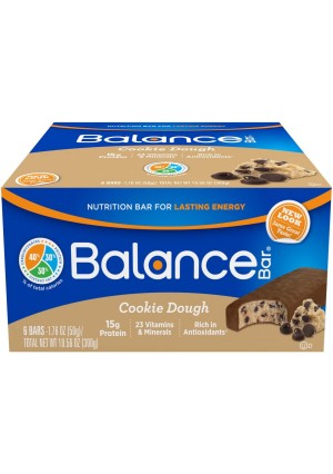 Balance Bar Cookie Dough, 1.76 ounce bars, 6 count