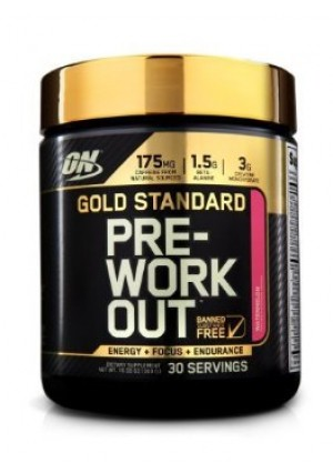 Optimum Nutrition Gold Standard Pre-Workout, Watermelon 10.58 oz. (300g) by Optimum Nutrition