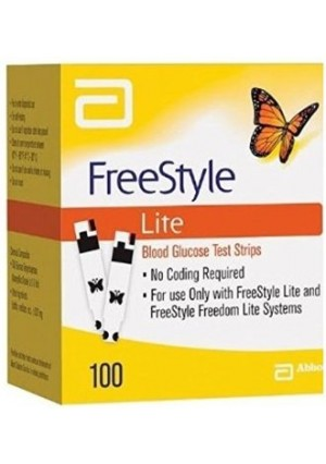 FreeStyle Lite Glucose Test Strips, 100 Strips