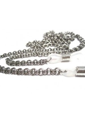 ATLanyards Double Loop Chain Eyeglass Holder - Stainless Steel Eyeglass Chain