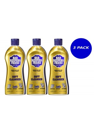 3-PK - Bar Keepers Friend Soft Cleanser for Stainless Steel / Porcelain / Ceramic / Tile / Copper - 13 Oz.