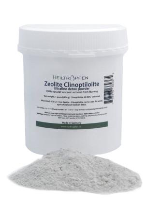 Heiltropfen Zeolite Powder, 1 Pound, ULTRA FINE less-than 20 µm, Clinoptilolite: 90-92%, activated, excellent