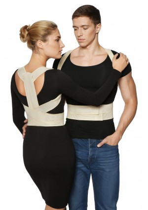BeFit24 - Posture Corrector + FREE Workstation Setup Guide - Spine Alignment Kyphosis Brace for Women, Men and Kids - [Size 0] - Made in Europe - 5 Year Warranty