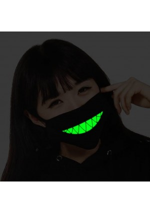 ZWZCYZ Men and women Boys and Girls Cotton Teeth Luminous Anti-Dust Mouth face Mask Anime Halloween Gift Cosplay (Teeth)