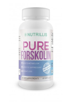 Nutrillis Non Gmo, 100% Pure Forskolin Extract, Standardized to 20%, For Carb Blocker, Natural Organic, Weig