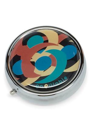 gopillable Midnight Swirl Decorative Pill Box for Pocket or Purse