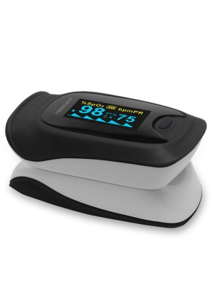 MeasuPro Instant Read Digital Pulse Oximeter, Oxygen Sensor and Pulse Rate Monitor with Carry Case and Lanyard CE, FDA Approved